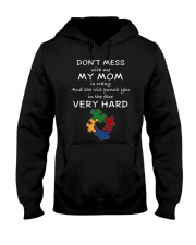 Autism My Mom Will Punch You In The Face Hooded Sweatshirt thumbnail