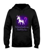 Unicorn Underestimate Me Will Be Fun Hooded Sweatshirt thumbnail