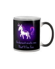 Unicorn Underestimate Me Will Be Fun Color Changing Mug thumbnail
