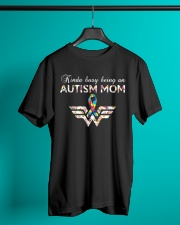 Busy Being An Autism Mom Classic T-Shirt lifestyle-mens-crewneck-front-3