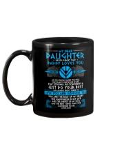 Viking Dad Daughter Stay Strong Mug back