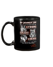 Wofl Mom to Son Always Remember Mug back