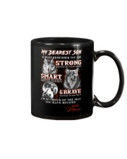 Wofl Mom to Son Always Remember Mug front