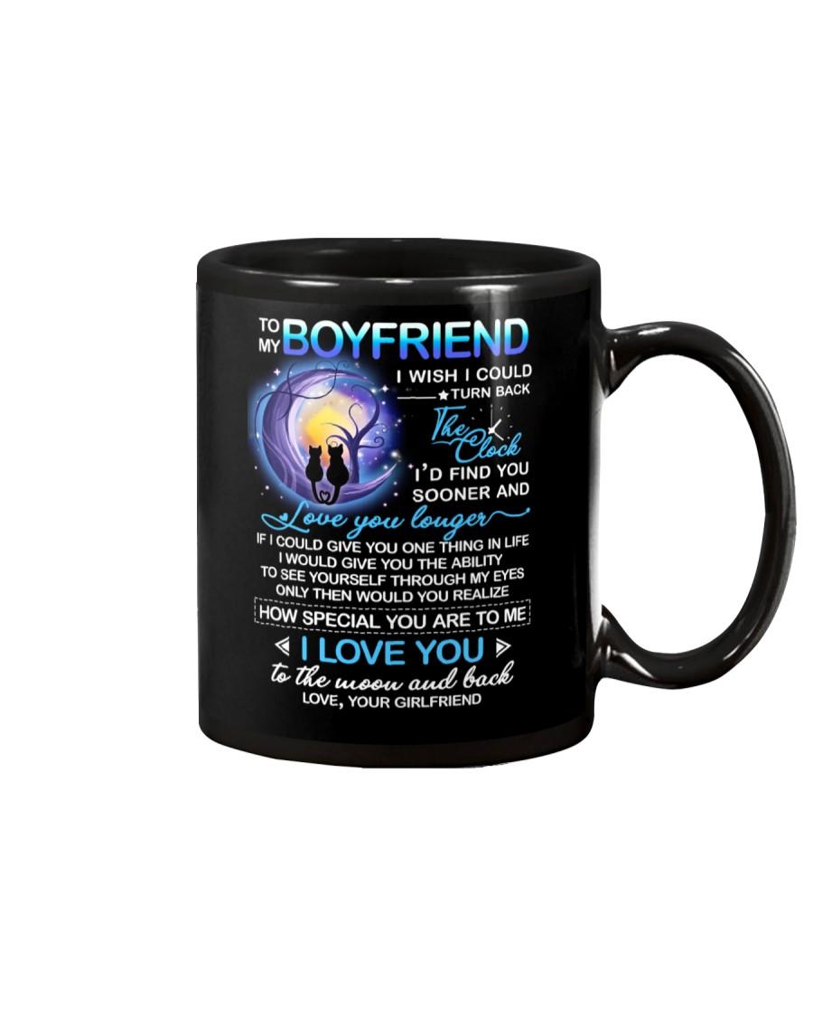 Cat Boyfriend Clock Ability Moon Mug