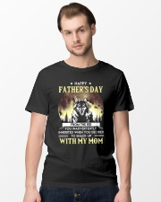 Father's Day Inherited Wolf  Classic T-Shirt lifestyle-mens-crewneck-front-15