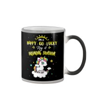 Unicorn Happy Go Lucky  Color Changing Mug thumbnail