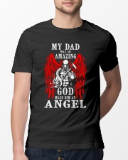 Firefighter Angel Dad Classic T-Shirt lifestyle-mens-crewneck-front-13