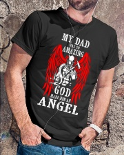 Firefighter Angel Dad Classic T-Shirt lifestyle-mens-crewneck-front-4