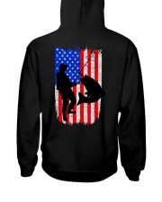 Fishing American flag Hooded Sweatshirt back