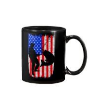 Fishing American flag Mug thumbnail