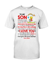Family Son Mom Breathing Support Moon Classic T-Shirt thumbnail