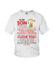 Family Son Mom Breathing Support Moon Youth T-Shirt thumbnail