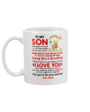 Family Son Mom Breathing Support Moon Mug back