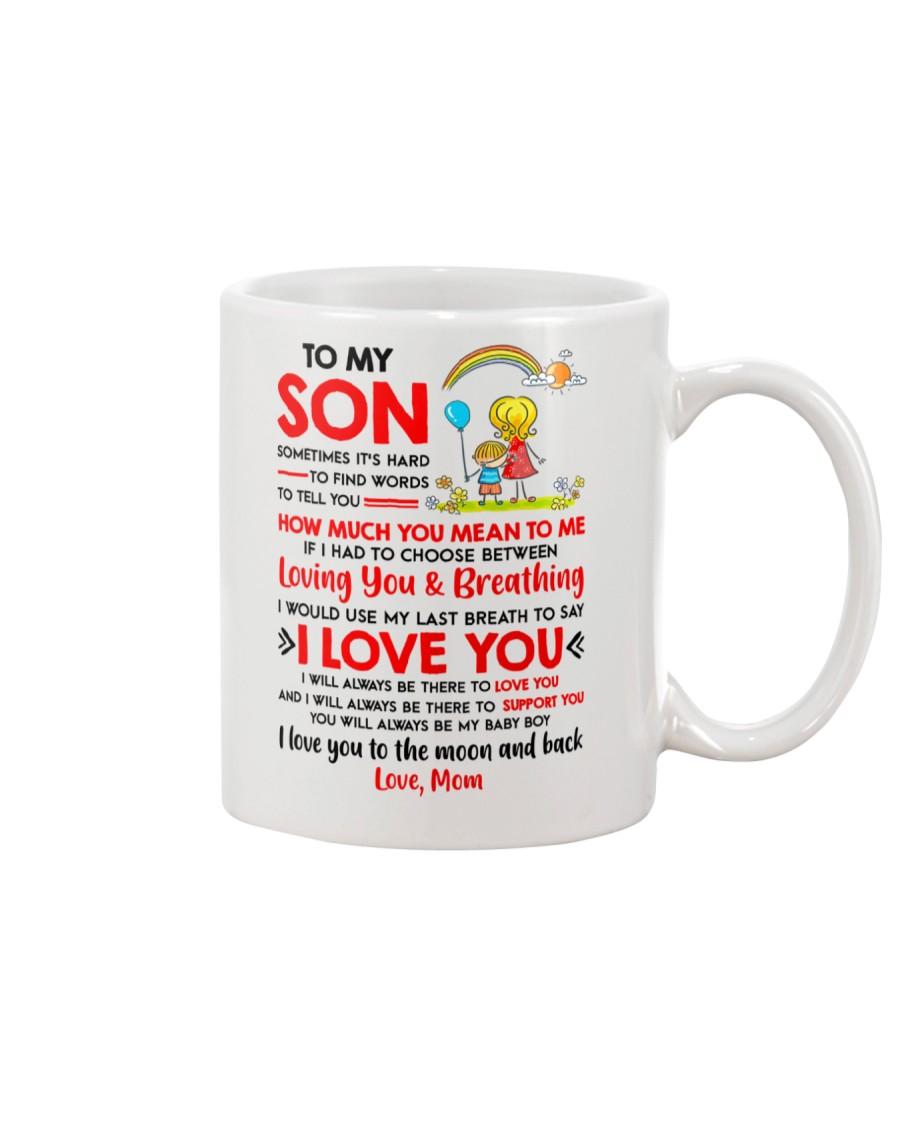 Family Son Mom Breathing Support Moon Mug