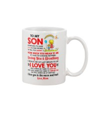 Family Son Mom Breathing Support Moon Mug front