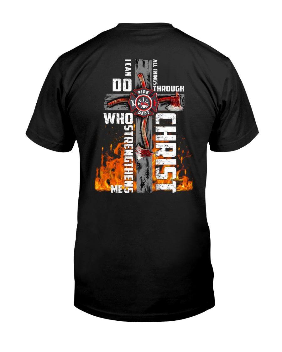 Firefighter Do All Things Through Christ Shirt Classic T-Shirt
