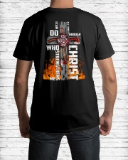Firefighter Do All Things Through Christ Shirt Classic T-Shirt lifestyle-mens-crewneck-back-1