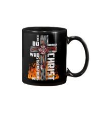 Firefighter Do All Things Through Christ Shirt Mug thumbnail