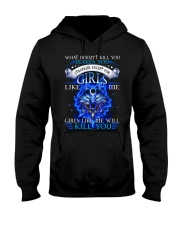 Girl Like Me Will Kill You Wolf Hooded Sweatshirt thumbnail