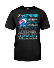 Shark Boyfriend Clock Ability Moon Classic T-Shirt thumbnail