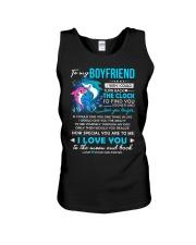 Shark Boyfriend Clock Ability Moon Unisex Tank thumbnail