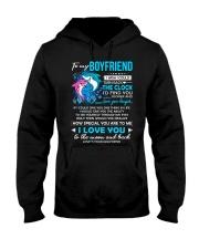 Shark Boyfriend Clock Ability Moon Hooded Sweatshirt thumbnail