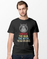 Viking Uncle Bad Influence Funny Classic T-Shirt lifestyle-mens-crewneck-front-15
