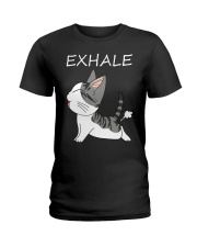 Cat Exhale Ladies T-Shirt thumbnail