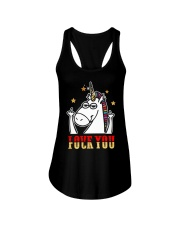 Love You Fuck You Unicorn Shirt Ladies Flowy Tank front