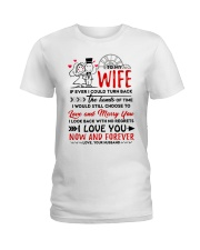 Turn Back Hand Of Time Wife Ladies T-Shirt thumbnail