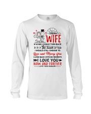Turn Back Hand Of Time Wife Long Sleeve Tee thumbnail