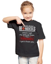 Firefighter Dad Attitude  Youth T-Shirt lifestyle-youth-tshirt-front-2