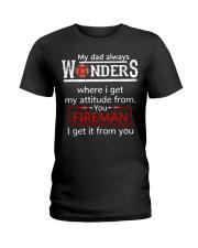 Firefighter Dad Attitude  Ladies T-Shirt tile