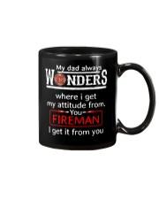 Firefighter Dad Attitude  Mug tile