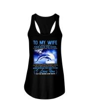 Dolphin Wife Clock Ability Moon Ladies Flowy Tank thumbnail