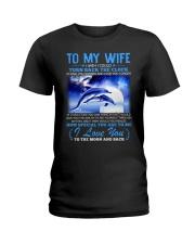 Dolphin Wife Clock Ability Moon Ladies T-Shirt thumbnail
