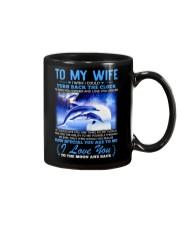 Dolphin Wife Clock Ability Moon Mug front