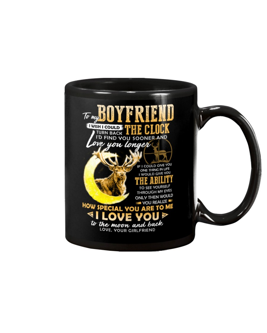 Hunting Boyfriend Clock Ability Moon Mug