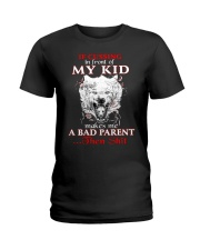 Wolf Bad Parent Then Shit Ladies T-Shirt front