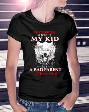 Wolf Bad Parent Then Shit Ladies T-Shirt lifestyle-women-crewneck-front-7