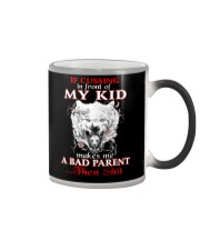 Wolf Bad Parent Then Shit Color Changing Mug tile