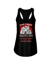 Wolf Turn Back Hand Of Time Fiancee Ladies Flowy Tank thumbnail