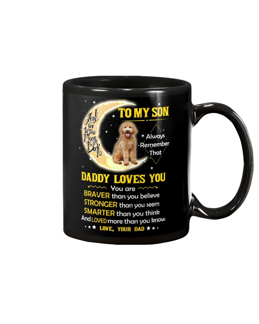 Goldendoodle Son Dad Daddy Loves You Mug