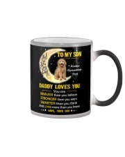 Goldendoodle Son Dad Daddy Loves You Color Changing Mug thumbnail