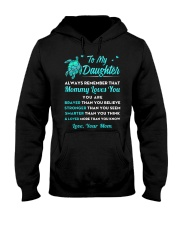 Turtle Mommy Loves You Daughter Hooded Sweatshirt thumbnail
