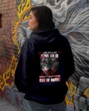 Just Because I'm Old Hooded Sweatshirt lifestyle-unisex-hoodie-back-1