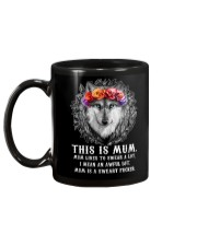 Mum Likes To Swear Wolf  Mug back