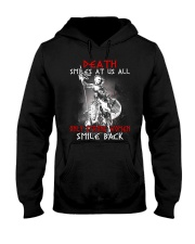 Vikings Shirt: Death Smile At Us All Hooded Sweatshirt thumbnail
