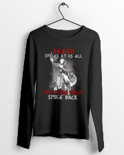 Vikings Shirt: Death Smile At Us All Long Sleeve Tee lifestyle-unisex-longsleeve-front-3