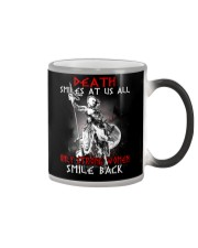 Vikings Shirt: Death Smile At Us All Color Changing Mug thumbnail